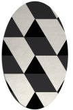 rug #1165551 | oval white abstract rug