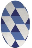 rug #1165559 | oval blue graphic rug