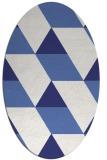 rug #1165559 | oval white abstract rug