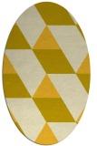 rug #1165579 | oval yellow geometry rug