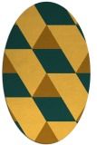 rug #1165591 | oval yellow retro rug