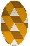rug #1165615   oval light-orange abstract rug