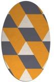rug #1165627   oval light-orange retro rug
