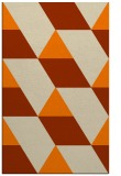 rug #1165631 |  orange graphic rug