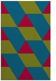 rug #1165751 |  blue-green retro rug