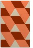 rug #1165847 |  orange abstract rug