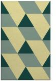 rug #1165963 |  yellow abstract rug