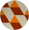 rug #1165999 | round orange rug