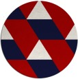 rug #1166255 | round red graphic rug