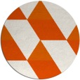 rug #1166283 | round red-orange retro rug