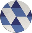 rug #1166295 | round blue abstract rug