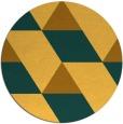 rug #1166327 | round yellow retro rug