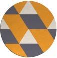 rug #1166363 | round light-orange retro rug