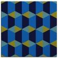 rug #1166767 | square blue geometry rug