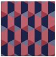 rug #1166827 | square pink retro rug