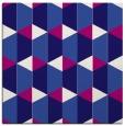 rug #1166835 | square blue-violet retro rug