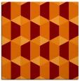 rug #1166943 | square red-orange geometry rug