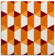 rug #1166947 | square orange retro rug