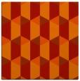 rug #1166995 | square red retro rug