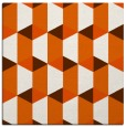 rug #1167019 | square red-orange geometry rug