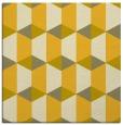 rug #1167051   square yellow geometry rug