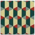 rug #1167067 | square yellow retro rug