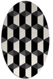 rug #1167107 | oval black geometry rug
