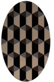 rug #1167115 | oval beige geometry rug