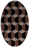 rug #1167119 | oval brown retro rug