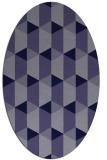 rug #1167191 | oval blue-violet popular rug