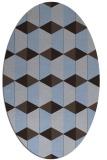 rug #1167211 | oval blue-violet retro rug