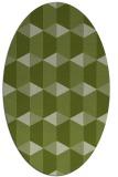 rug #1167227 | oval green rug
