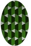 rug #1167243 | oval light-green rug
