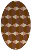rug #1167251 | oval brown retro rug
