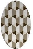rug #1167263 | oval white retro rug