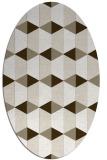 rug #1167266 | oval retro rug