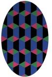 rug #1167303 | oval black retro rug