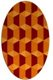 rug #1167311 | oval orange geometry rug