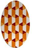 rug #1167315 | oval orange retro rug