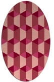 rug #1167335 | oval pink retro rug
