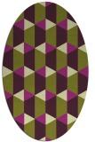 rug #1167347   oval purple retro rug