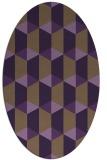 rug #1167351   oval purple retro rug