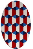 rug #1167359 | oval red retro rug