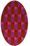 rug #1167373 | oval retro rug