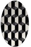 rug #1167391 | oval white retro rug