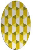 rug #1167395 | oval white retro rug