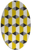 rug #1167427 | oval white geometry rug