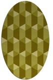 rug #1167439 | oval light-green rug