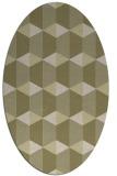 rug #1167443 | oval light-green popular rug