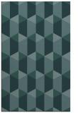rug #1167543 |  blue-green retro rug